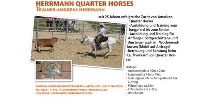Herrmann Quarter Horses – PLZ 56567