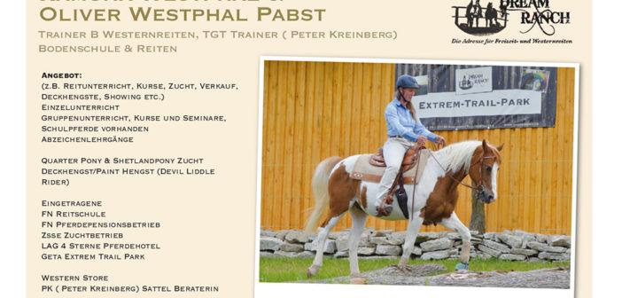 Dream Ranch – Ramona Westphal und Oliver Westphal Pabst – PLZ 37120